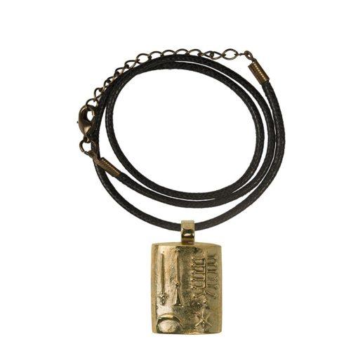 CN181CRBZ Ciondolo in bronzo con collare in cotone nero